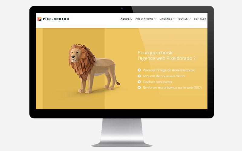 Création de site internet à Valence et Montélimar par l'agence web Pixeldorado.